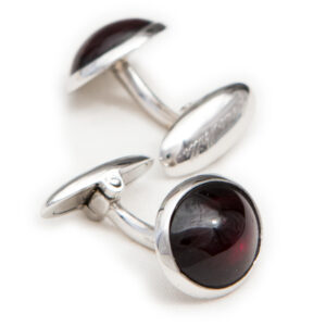garnet 925 silver cufflinks