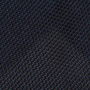 5-fold navy grenadine silk tie
