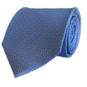 3-fold sky blue with motif tie