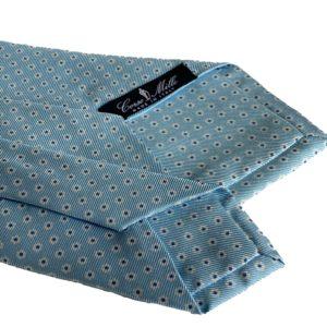 3-fold turquoise silk twill tie