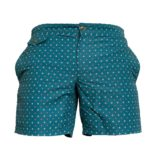 forrest with micro floral motif swim short